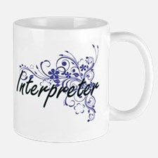 Interpreter Artistic Job Design with Flowers Mugs