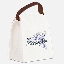 Interpreter Artistic Job Design w Canvas Lunch Bag