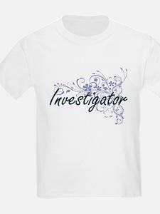 Investigator Artistic Job Design with Flow T-Shirt