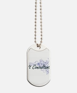 It Consultant Artistic Job Design with Fl Dog Tags