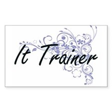 It Trainer Artistic Job Design with Flower Decal