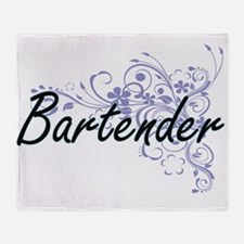Bartender Artistic Job Design with F Throw Blanket