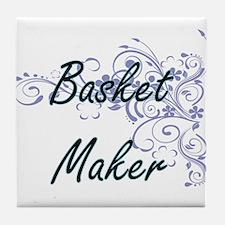 Basket Maker Artistic Job Design with Tile Coaster