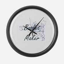 Basket Maker Artistic Job Design Large Wall Clock