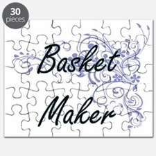 Basket Maker Artistic Job Design with Flowe Puzzle