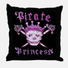 Pirate Princess Throw Pillow