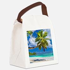 Tropical Beach Canvas Lunch Bag