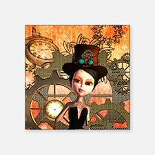 Steampunk, cute girl Sticker