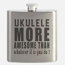 Ukulele More Awesome Instrument Flask