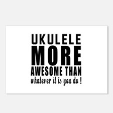 Ukulele More Awesome Inst Postcards (Package of 8)