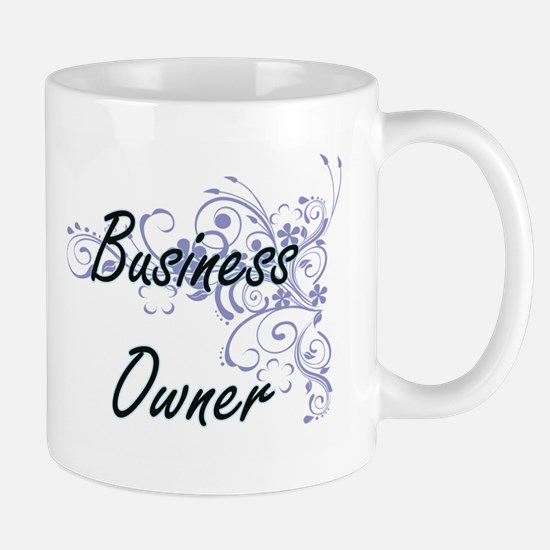 Business Owner Artistic Job Design with Flowe Mugs