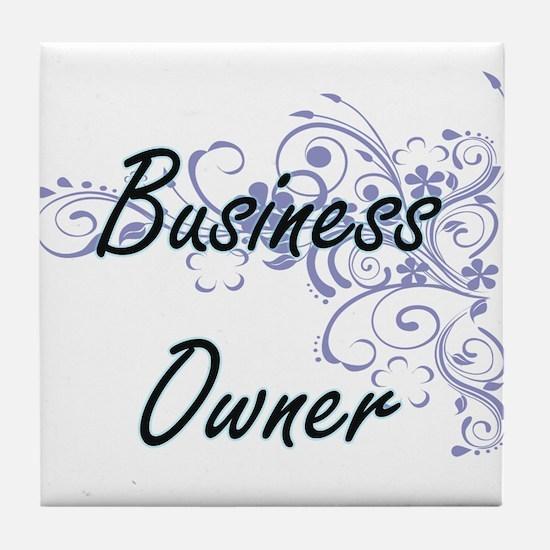 Business Owner Artistic Job Design wi Tile Coaster