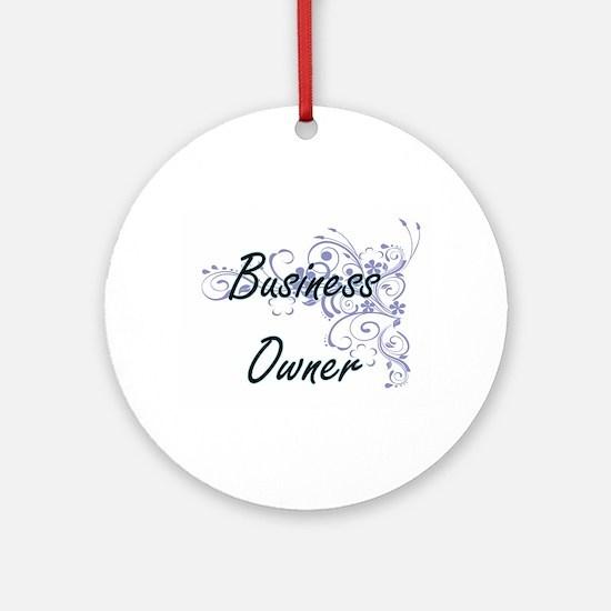 Business Owner Artistic Job Design Round Ornament