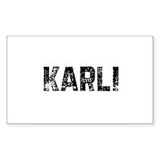 Karli Rectangle Decal