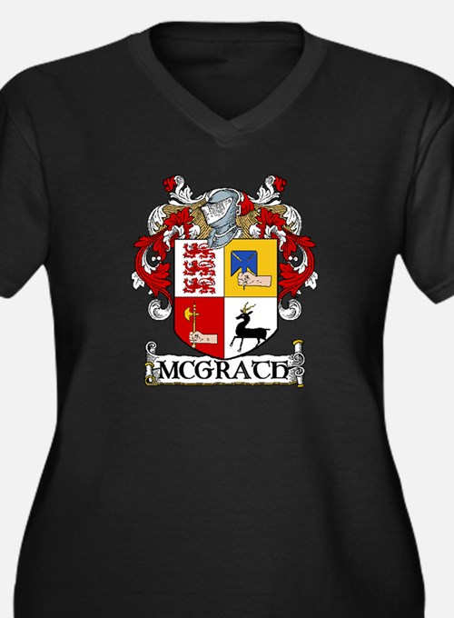 McGrath Coat of Arms Women's Plus Size V-Neck Dark