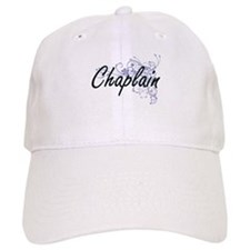 Chaplain Artistic Job Design with Flowers Baseball Baseball Cap