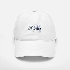 Chaplain Artistic Job Design with Flowers Baseball Baseball Cap