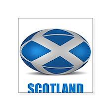 """Cute Scotland rugby Square Sticker 3"""" x 3"""""""
