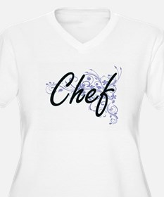 Chef Artistic Job Design with Fl Plus Size T-Shirt