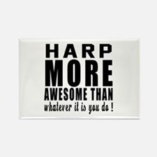 Harp More Awesome Instrument Rectangle Magnet