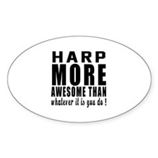 Harp More Awesome Instrument Decal