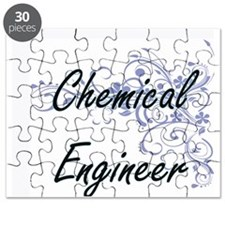 Chemical Engineer Artistic Job Design with Puzzle
