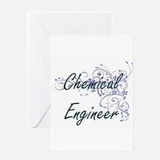 Chemical Engineer Artistic Job Desi Greeting Cards