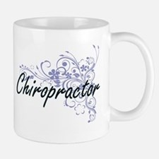 Chiropractor Artistic Job Design with Flowers Mugs