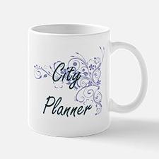 City Planner Artistic Job Design with Flowers Mugs