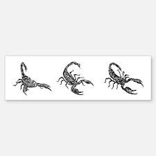 Black Scorpion Bumper Bumper Bumper Sticker