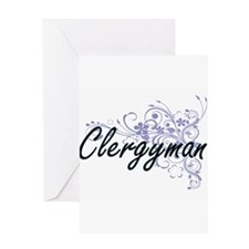 Clergyman Artistic Job Design with Greeting Cards