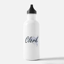 Clerk Artistic Job Des Water Bottle
