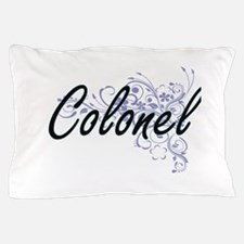 Colonel Artistic Job Design with Flowe Pillow Case