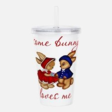 Some Bunny Loves Me Co Acrylic Double-wall Tumbler