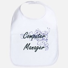 Computer Manager Artistic Job Design with Flow Bib