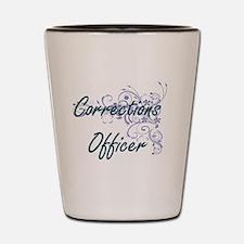 Corrections Officer Artistic Job Design Shot Glass