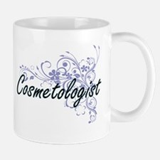 Cosmetologist Artistic Job Design with Flower Mugs