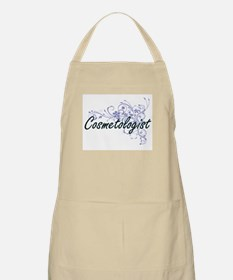 Cosmetologist Artistic Job Design with Flowe Apron