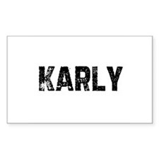 Karly Rectangle Decal