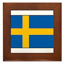 Sweden - Swedish Flag Framed Tile