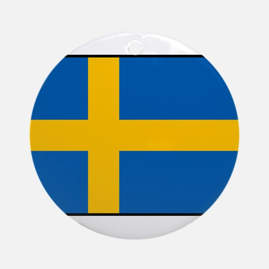 Sweden - Swedish Flag Round Ornament