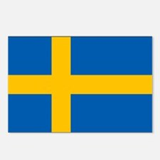 Sweden - Swedish Flag Postcards (Package of 8)