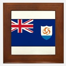 Anguilla - Anguillian Flag Framed Tile