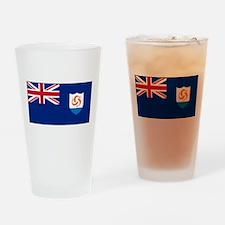 Anguilla - Anguillian Flag Drinking Glass