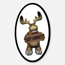Moose Joy Oval Decal
