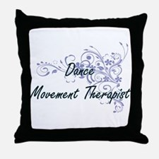 Dance Movement Therapist Artistic Job Throw Pillow