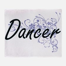 Dancer Artistic Job Design with Flow Throw Blanket