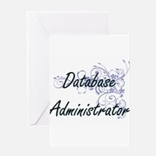 Database Administrator Artistic Job Greeting Cards
