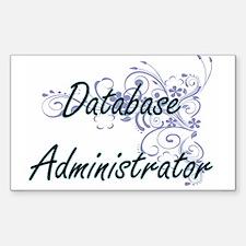 Database Administrator Artistic Job Design Decal