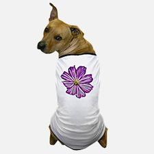 Purple Flower Fractal Dog T-Shirt